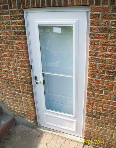 Windows and Doors Toronto-Smooth Fiberglass Doors-Smooth Door Solid Single Door Installed by Windows and Doors Toronto