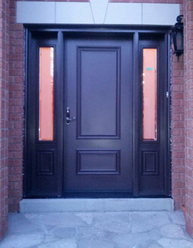 Windows and Doors Toronto-Smooth Fiberglass Doors-Smooth Door with 2 Side Lites by Windows and Doors Toronto