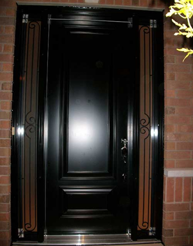 Windows and Doors Toronto-Smooth Fiberglass Doors-Smooth Door with 2 Side lites installed by Windows and Doors Toronto