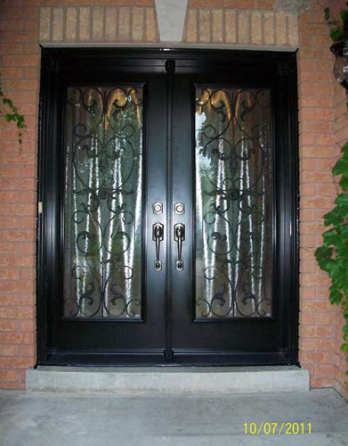 Windows and Doors Toronto-Smooth Fiberglass Doors-Smooth  Doors, Primvera Design Double Doors installation by Windows and Doors Toronto