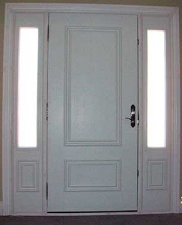 Smooth Fiberglass Doors-Smooth Doors-Smooth Doors with 2 Side Lites installed by Windows and Doors Toronto
