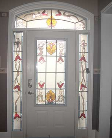 Windows and Doors Toronto-Fiberglass Doors-Stained Glass Front Doors-Stained Glass  Door Installed in Scarborough – Inside View by  Windows And Doors Toronto