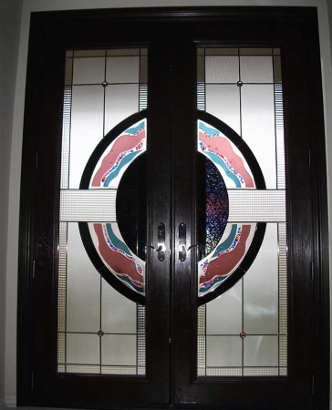 Windows and Doors Toronto-Fiberglass Doors-Stained Glass Front Doors-Stained Glass Doors-8-Foot-Fiberglass-Milan-Design-Door-Installed-in-Woodbridge—Inside-View by  Windows And Doors Toronto