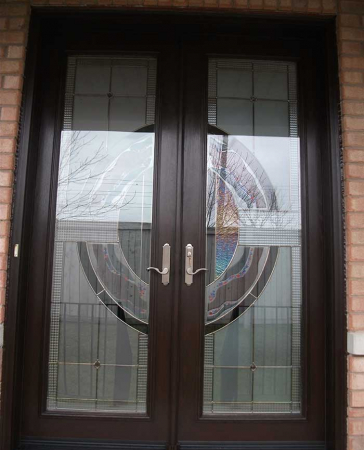Windows and Doors Toronto-Fiberglass Doors-Stained Glass Front Doors-Stained Glass Doors, 8-Foot-Fiberglass-Milan-Design-Door-Installed-in-Woodbridge by  Windows And Doors Toronto