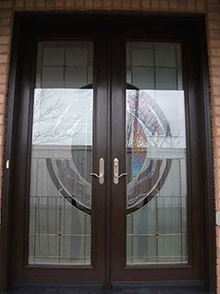 Stained Glass Extrior Doors by Smooth Fibergass Doors by Executive Fibergass Doors by Rustic Fibergass Doors installed by windowsanddoorstoronto.ca