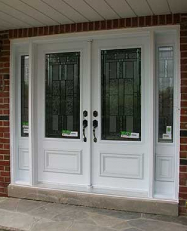 Windows and Doors Toronto-Fiberglass Doors-Stained Glass Front Doors-Stained Glass Smooth Doors installed in Bloomington by  Windows And Doors Toronto