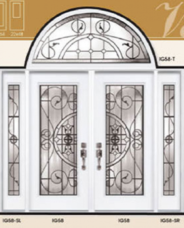 Windows and Doors Toronto-Fiberglass Doors-Stained Glass Front Doors-Valencia Stained Glass  Fiberglass Doors by  Windows And Doors Toronto