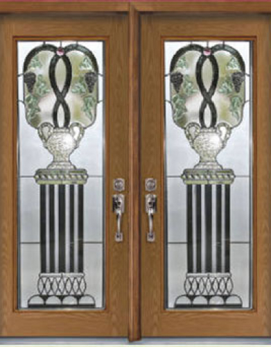 Windows and Doors Toronto-Fiberglass Doors-Stained Glass Front Doors-Venice Stained Glass  Fiberglass Doors by  Windows And Doors Toronto