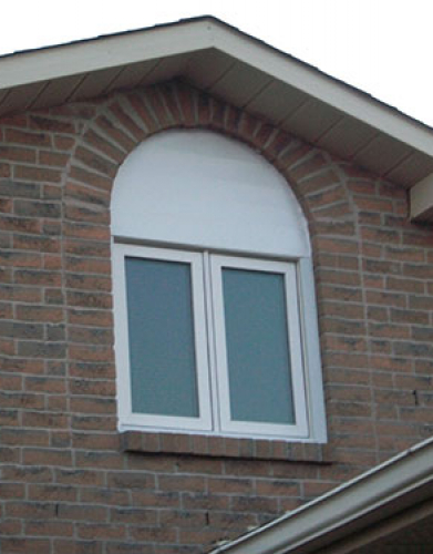 Window installation with special shape aluminum capping by Windows and Doors Toronto