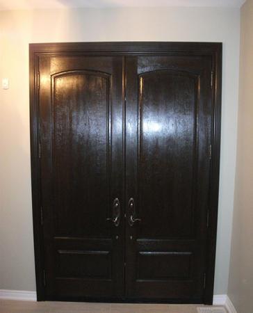 Woodgrain Exterior Doors-Woodgrain doors-Front Entry Doors-Wood Grain Fiberglass Double Doors Installed by Windows and Doors Toronto