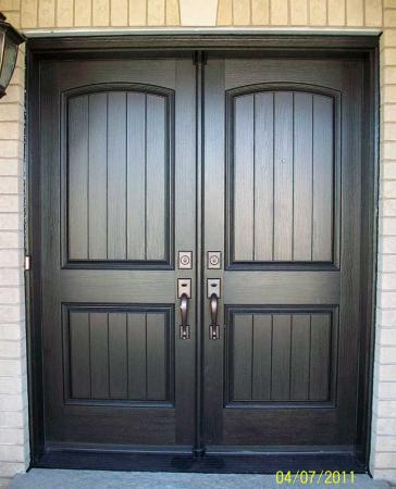 Woodgrain Exterior Doors-Woodgrain doors-Front Entry Doors-Wood grain Rustic Fiberglass Doors Installed by windows and doors Toronto in Brampton