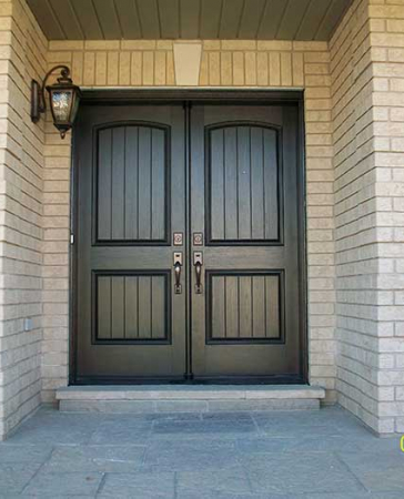 Woodgrain Exterior Doors-Woodgrain doors-Front Entry Doors-Wood grain Rustic Fiberglass Parliament Doors with Multi Point Locks Installed by Windows and Doors Toronto in Burlington