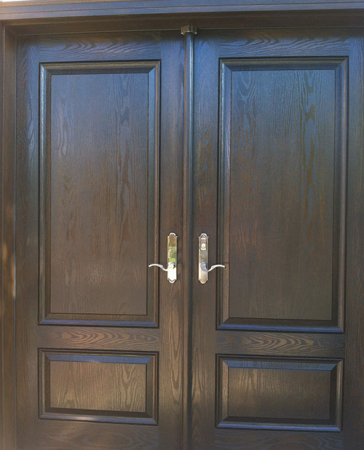Woodgrain Exterior Doors-Woodgrain Exterior Doors-Woodgrain doors-Wood grain Solid Double Doors with Multi Point Locks Installed by Windows and Doors Toronto