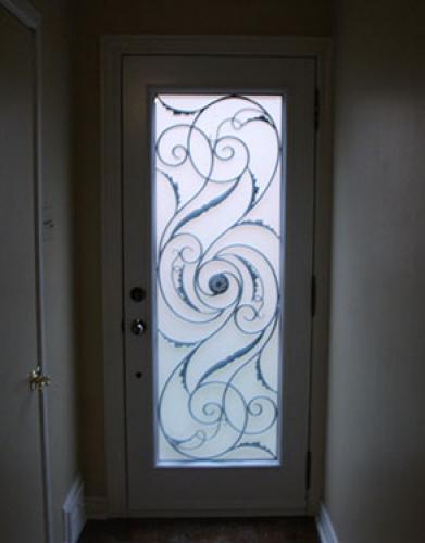 Wrought Iron Door, Milan Design Exterior Fiberglass Door