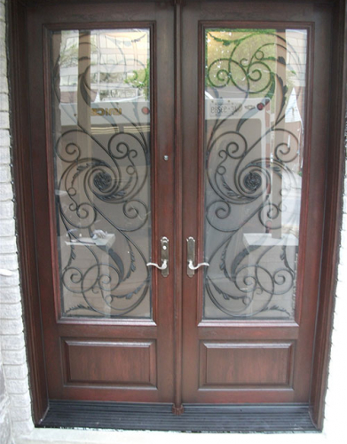 Wrought Iron Doors-Fiberglass Front Entry Serafina Design Doors with Multi Point Locks Installed by Windows and Doors Toronto in Scarborough