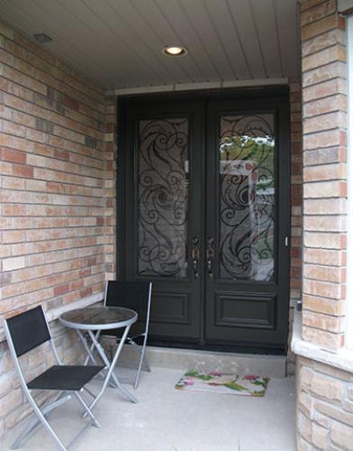 Front Entry Doors-Wrought Iron Double Doors-Fiberglass Doors Serafina Design Installed by Windows and Doors Toronto in North York